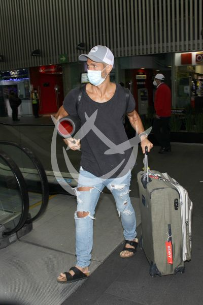 Horacio Pancheri en el Aeropuerto