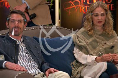 José María y Claudia en Fuego Ardiente