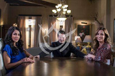 Kuno, Mariana y Claudia en Fuego Ardiente