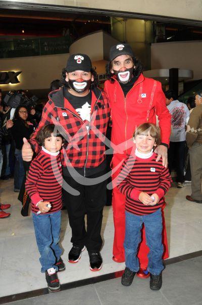 Cepillín con hijo y nietos 2013