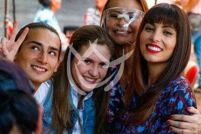 Emilio, Daniela, Wendy y Gloria en Qué Le Pasa A Mi Familia