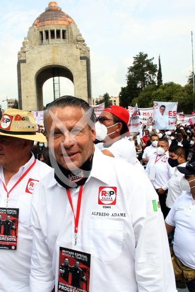 Alfredo Adame cierra campaña