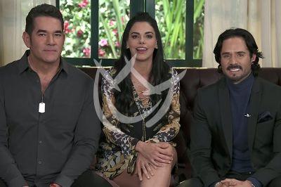 Livia Brito, José y Eduardo en La Desalmada