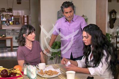 Livia, Raúl y Verónica en La Desalmada