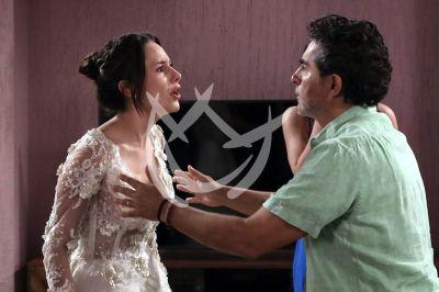 Alejandra y Raúl en La Desalmada