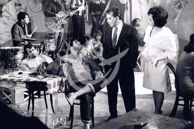 Alfonso Zayas y \'Cantinflas\' 1965