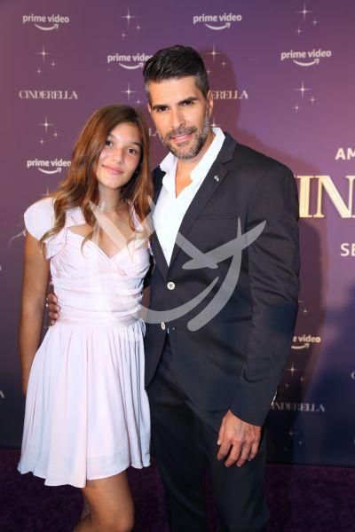 Juan Pablo Llano y su hija