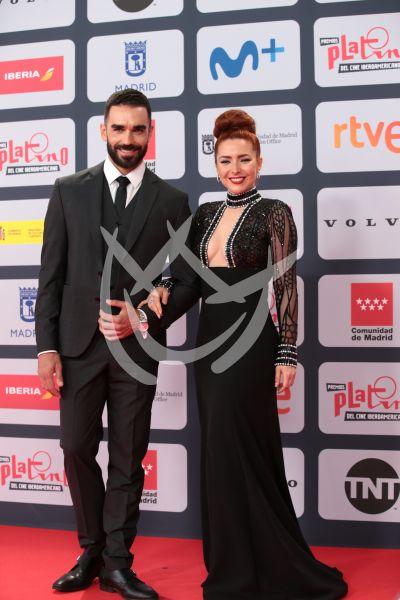 Marcus Ornellas y Ariadne Díaz en los Platino