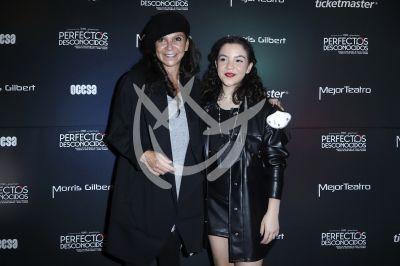 Mariana Garza e hija con Perfectos Desconocidos